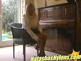 classy blond english mother i housewife shows her