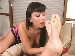 oriental feet loving lesbian babes