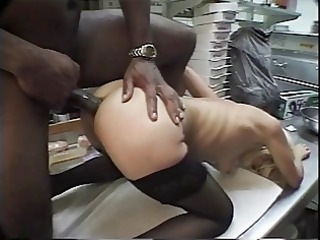 perfect blond in underware gets her asshole