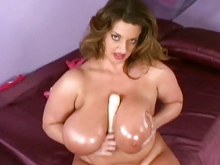 mega breasted oiled mother i toys her hungry