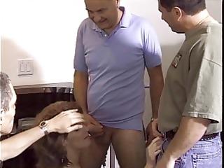 mature hottie likes cum