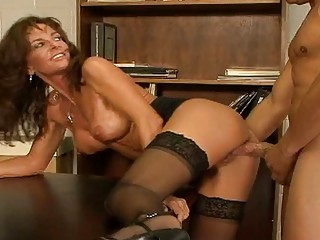 breasty aged fuck bitch in stockings