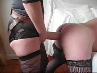 husband takes a biggest dick up his booty from
