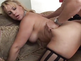 older horny lady fucked and spunked