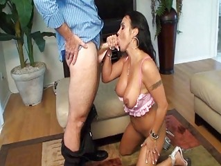 breasty tattooed brunette mother i gets her