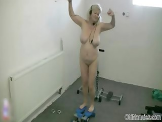 slutty golden-haired granny t live without