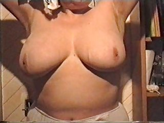 my wife showing her large tits