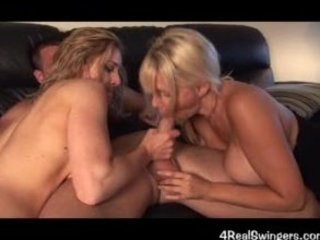 swinger wife 3some turns into fuckfest