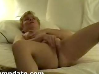 hubby films his mature wife masturbating