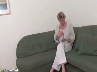 sexually excited old blond woman acquires in