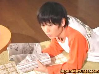 lascivious japanese mature babes engulfing