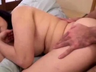 fat aged woman drilled by juvenile chap getting