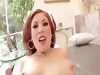 sexy redhead mother i rides cock for facial