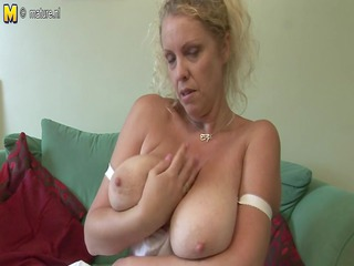 large titted british mother shows off great rack