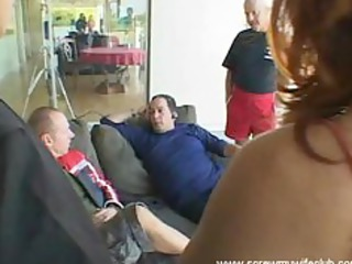 hubby watched wife drilled by 5 hard dicks