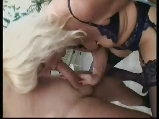 blond german mature in nylons