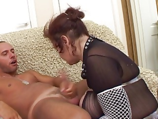 busty russian aged sucks and bonks with youthful