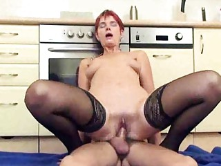 mature has her a-hole used