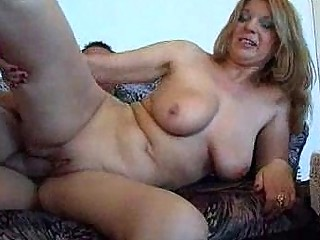 he is sure is cheerful to fuck this plump milf