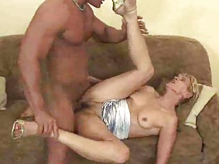 mature granny gives a blow job and is drilled
