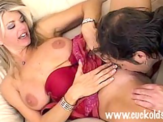 sexually excited blond vicky films herself