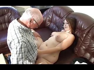 german grandpa makes youthful beauty lewd