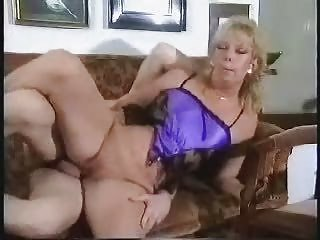 pierced hairless aged screwed on sofa with facial