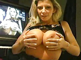 breasty milf squeezes meatballs and sucks and