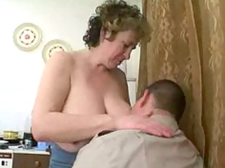 russian mature with bulky guy