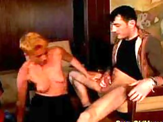 eager old mamma gets hard drilled and facial load