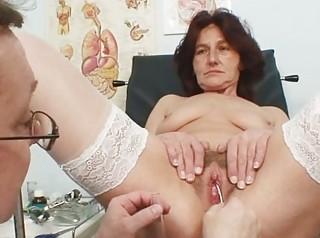 hirsute twat grandma visits pervy woman doctor