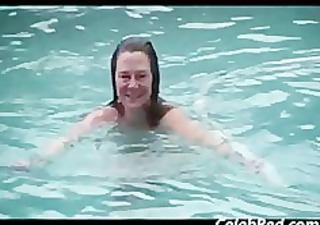 older wife swims exposed and gets screwed outside