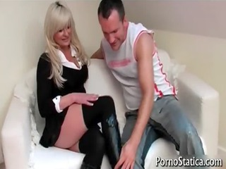 busty karen kay acquires pussy licked
