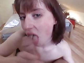 busty wife blowjob and jizz flow