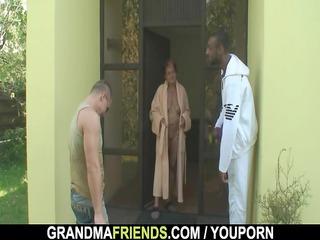 males team fuck granny