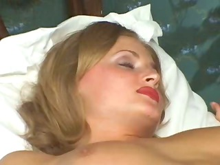 hawt golden-haired russian wife is cheating and