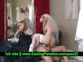 kayla paige blond bride fucking and gets cumshoot