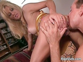 nice-looking busty older blonde acquires that
