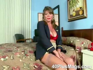 see this bizarre hot mature brunette