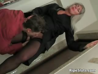 blond mommy clothed in hot lingerie part6