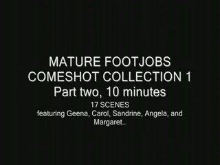 mature footjob cumshots