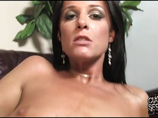 cuckold love to clean his wife covered by dark cum