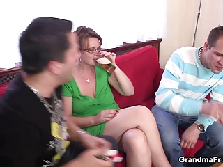mature lady is lured into some