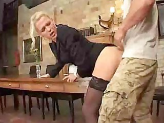 thin mother i assfucked on table