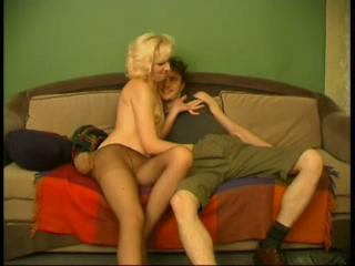 mother seduces her little son