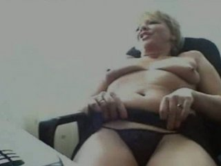 lewd granny on webcam