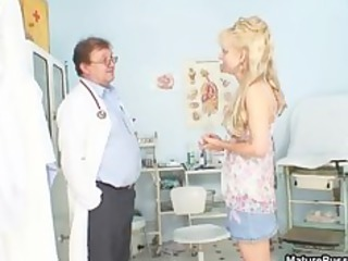 sexually excited doctor humiliated a aged blonde