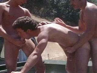 vintage mature boyz drilling outdoor