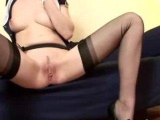 mature stocking british lesbian sex-toy