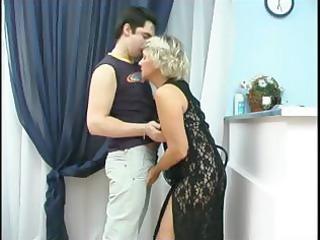 youthful adam licking older margaret